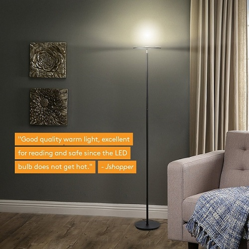 Brightech Sky Led Torchiere Floor Lamp Is A Great With Nice And Stylish Look That Capable Of Both Mood Task Lighting It Super Bright