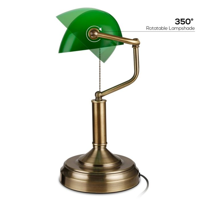 TORCHSTAR Traditional Banker's Lamp