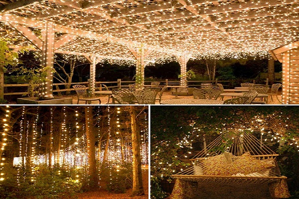 Amir Solar Ed String Lights 200 Led Copper Wire 72ft 8 Modes Starry Waterproof Ip65 Fairy Christams Decorative