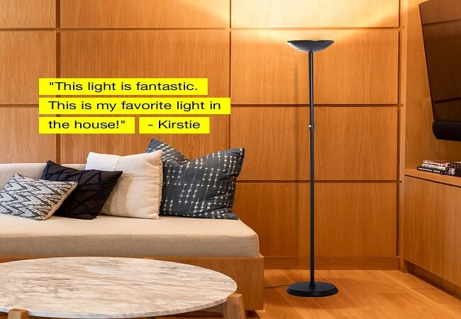 Brightech SkyLite - Bright LED Torchiere Floor Lamp