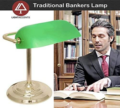 Light Accents Metal Bankers Lamp