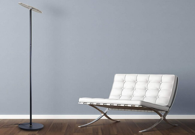 OBright Dimmable LED Torchiere Floor Lamp